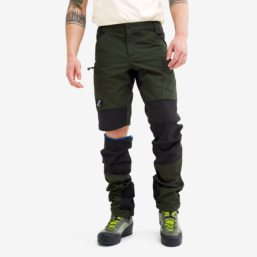 Nordwand Pro Zip-off Pants Forest Green Men
