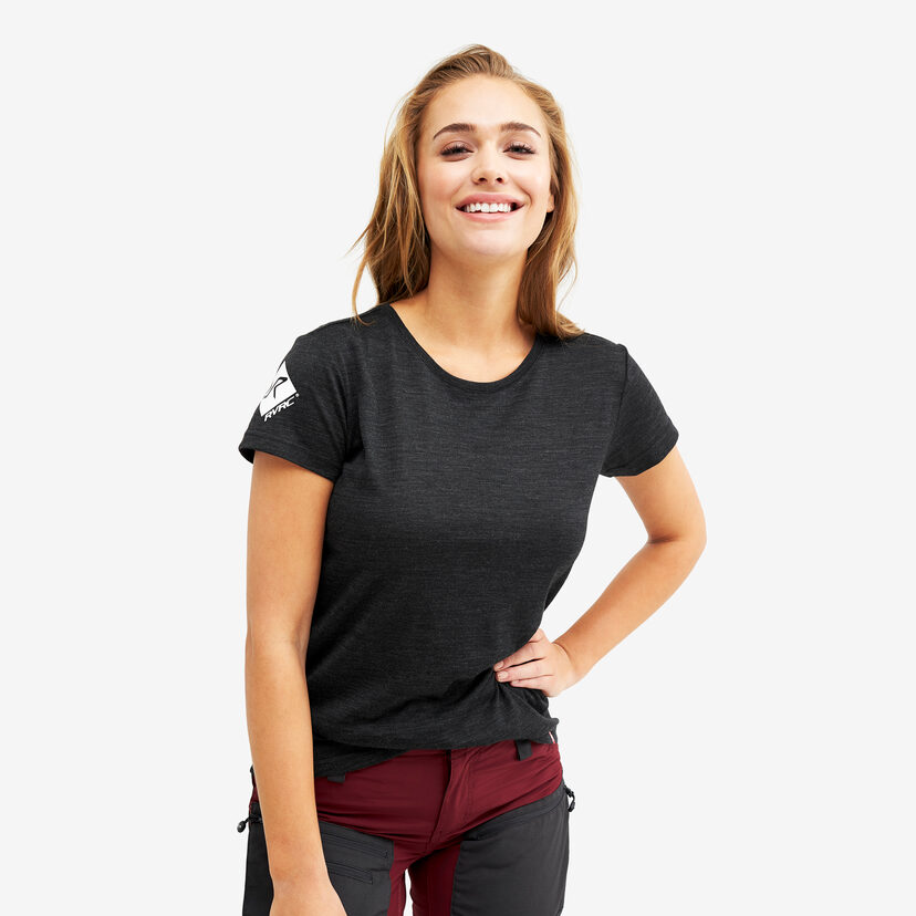 Sheep Tee Black Melange Women