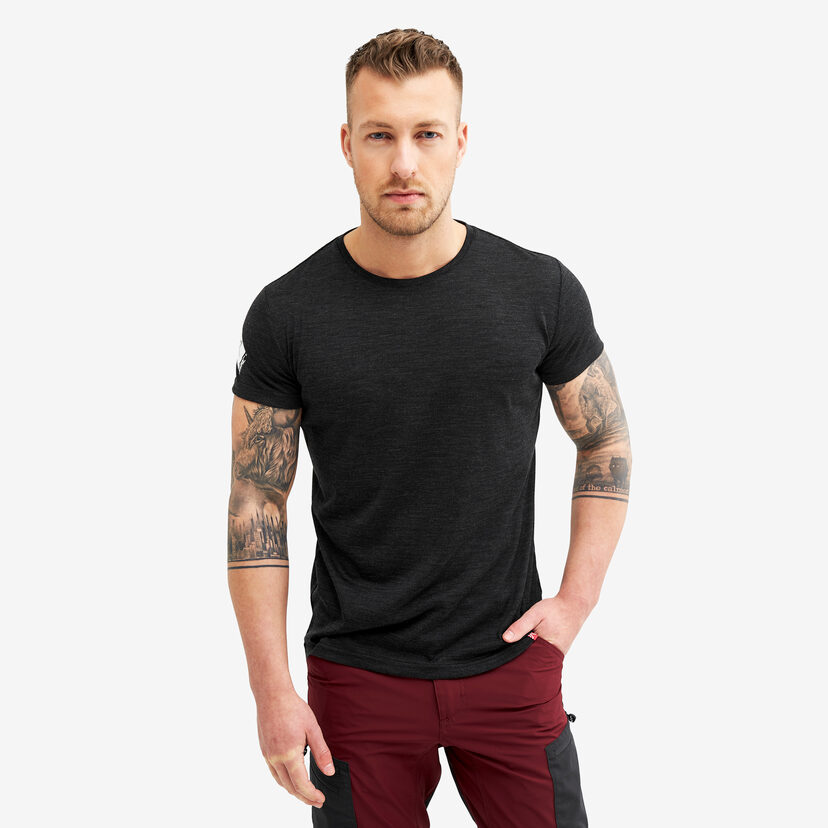 Sheep Tee Black Melange Men