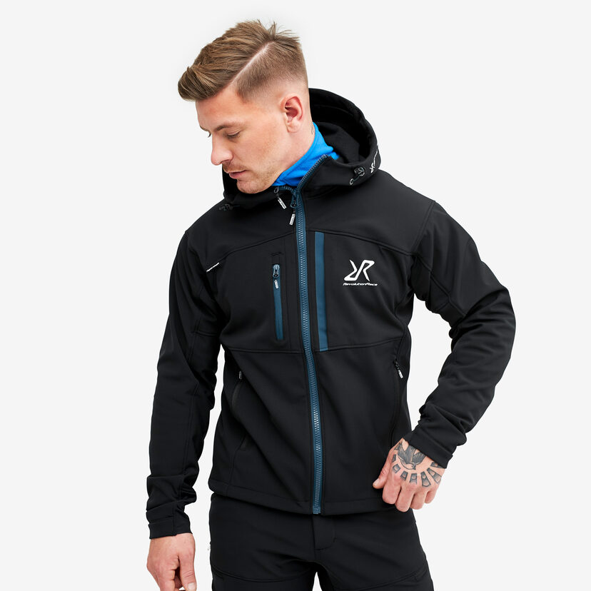 Hiball Jacket Black/Dark Ocean Men