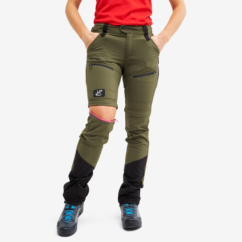 Silence Pro Zip-off Pants Olive Night Women