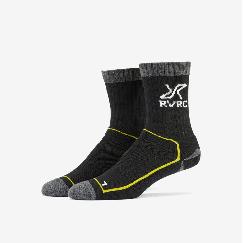 Wander Sock Black/Yellow Women