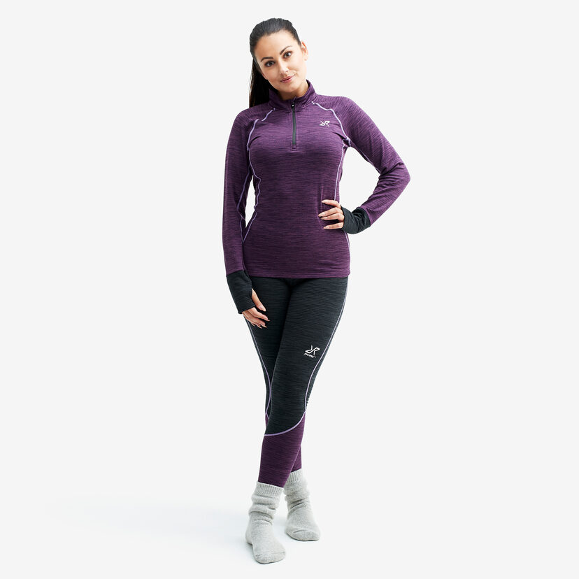 Hiball Waffle Baselayer Winter Bloom Women