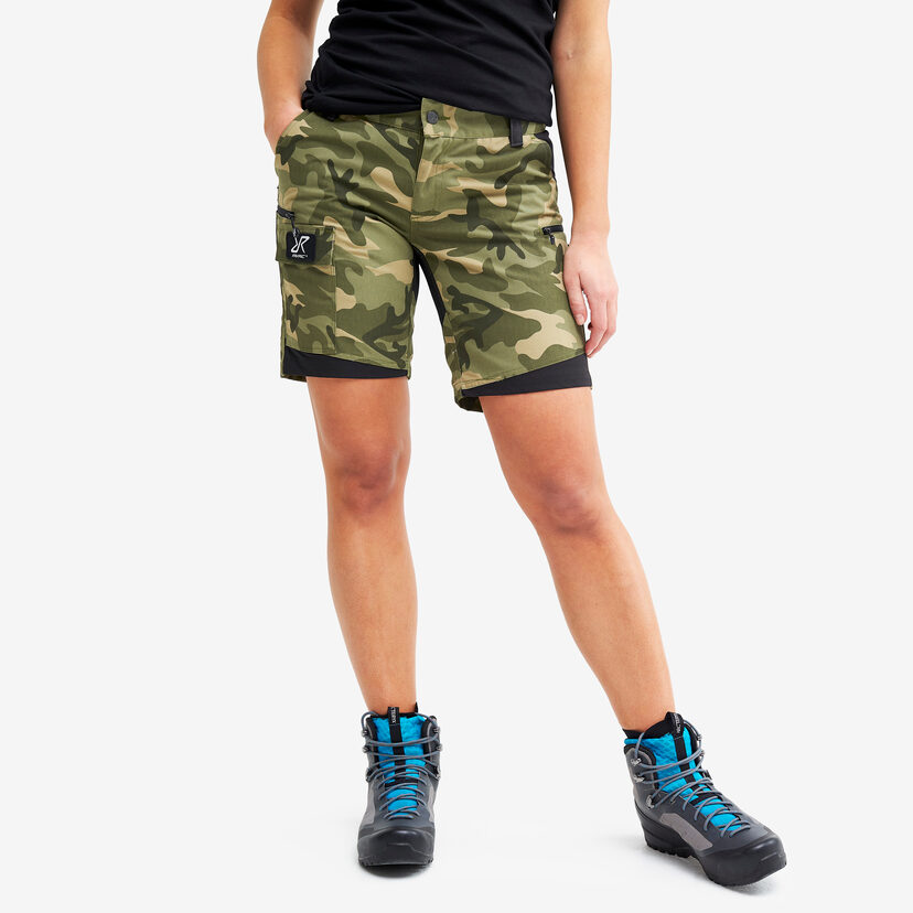 Nordwand Shorts Green Camo Women