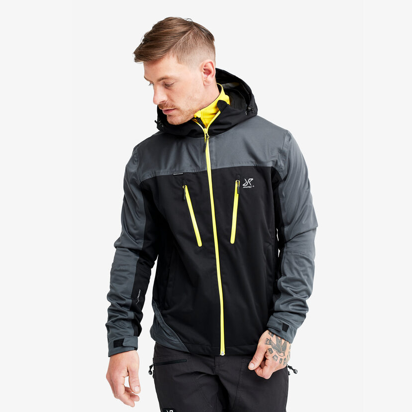 Silence Proshell Jacket Black/Yellow Herr