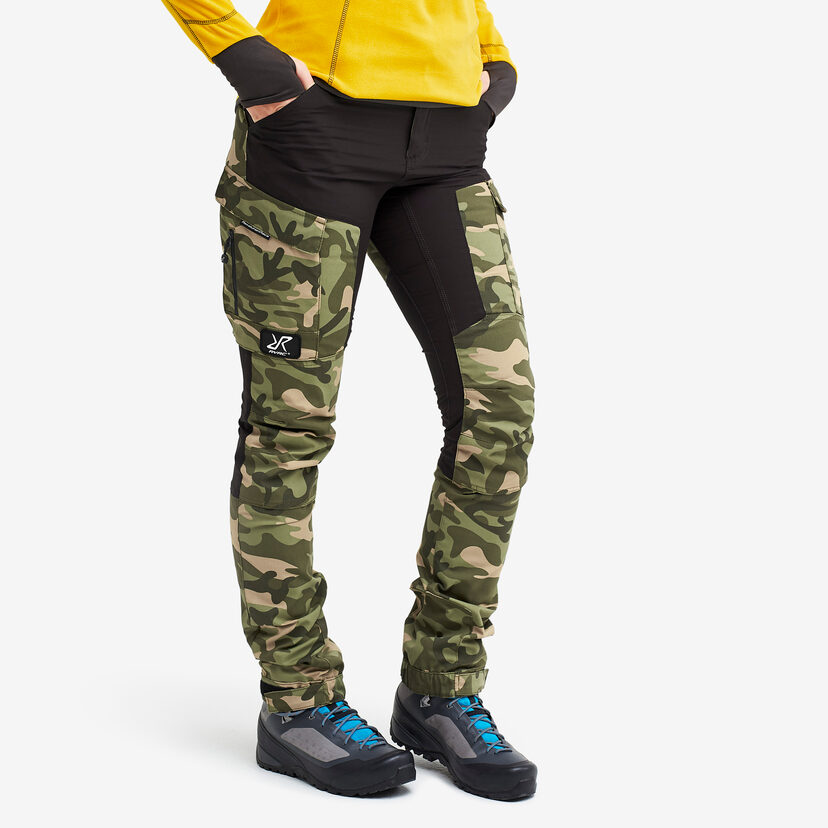 Gpx Pants Jetblack/Green Camo Women