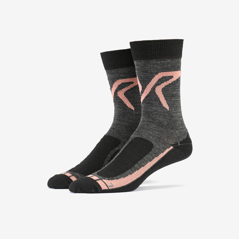 Hiking Sock Black/ Peach Women