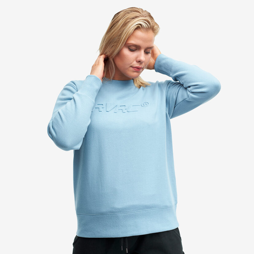 Slacker Sweater Faded Denim Women