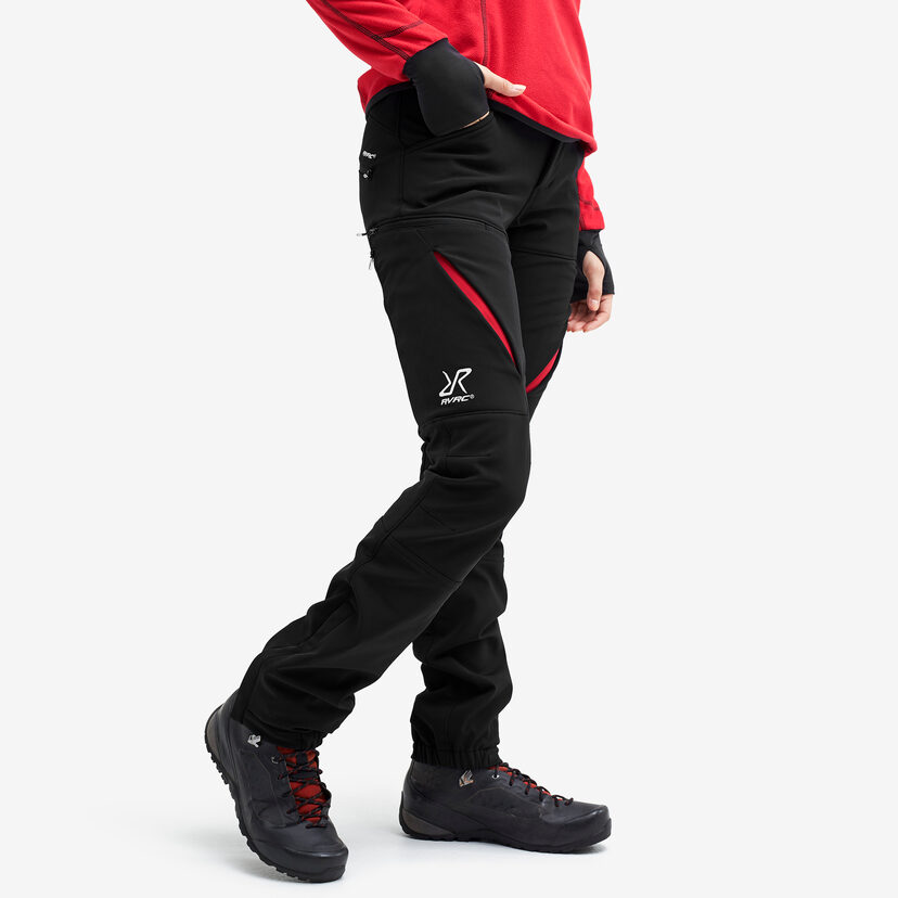 Hiball Trousers Black/Red Women