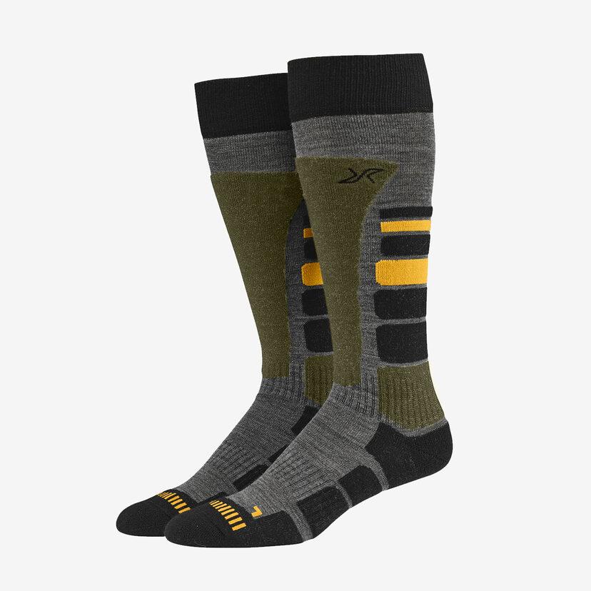 Ski Sock Dark Olive Men