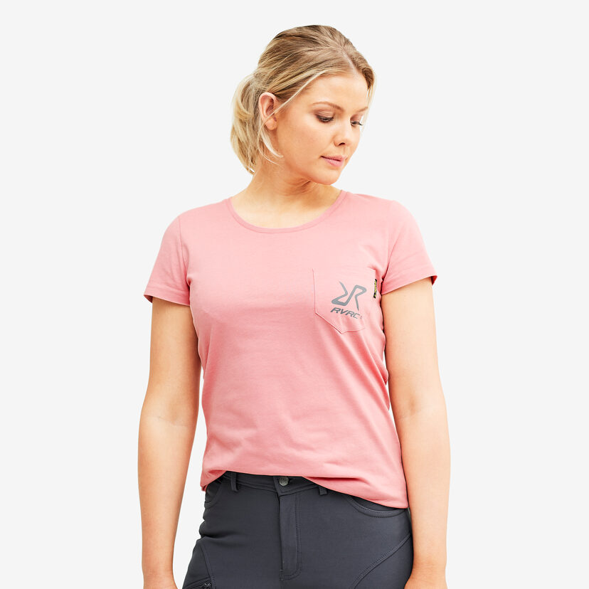 Fat Logo Tee Dusty Pink Women