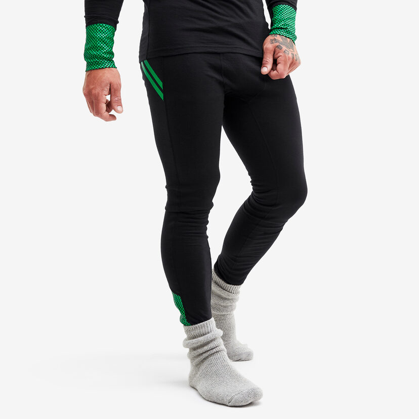 Merino Wool Pants Black/Fern Herr