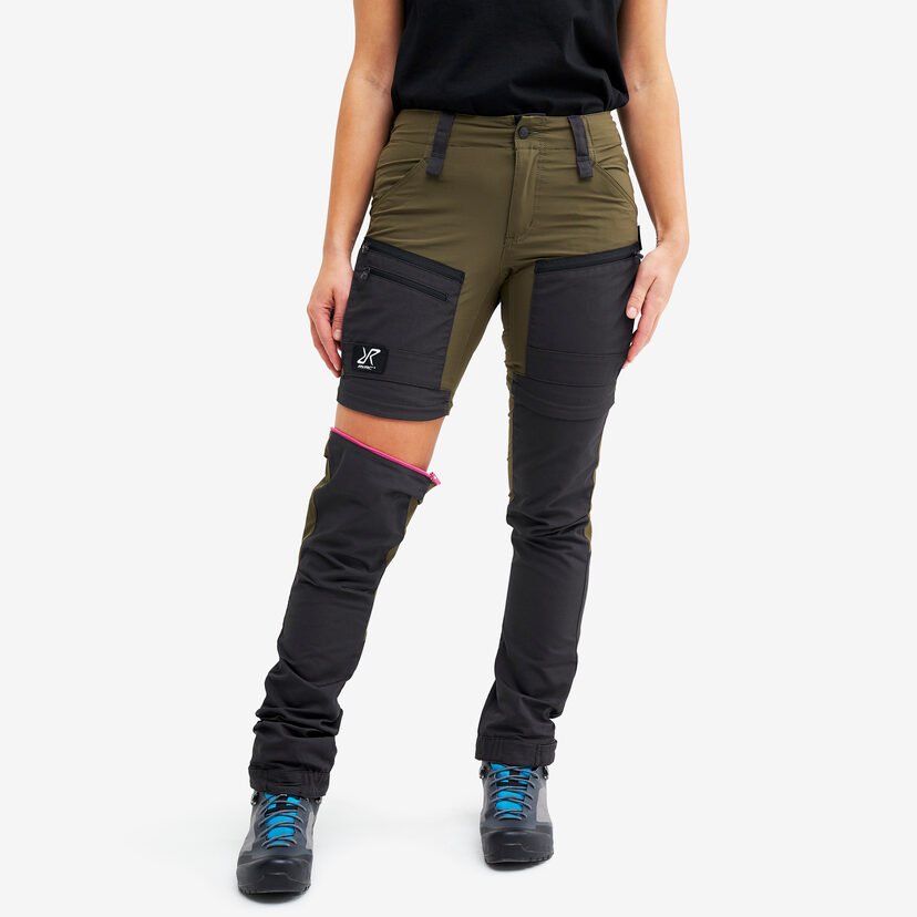 Gpx Pro Zip-off Pants Dark Olive Women