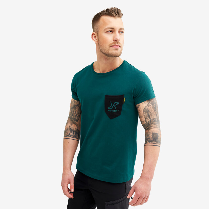 Fat Logo Tee Deep Teal Herr