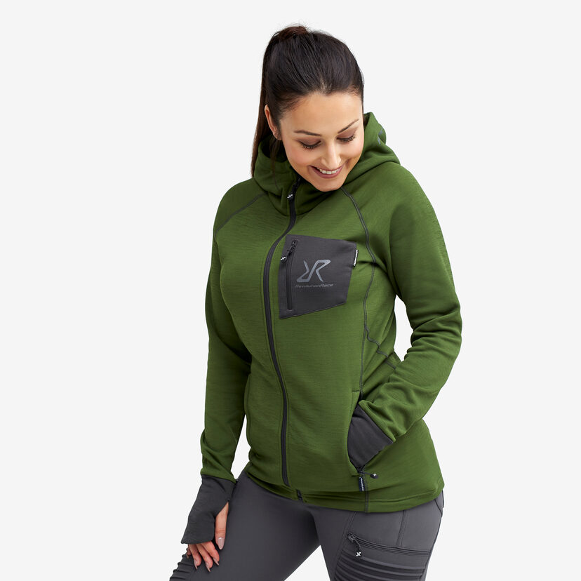 Illusion Hood Turtle Green Women