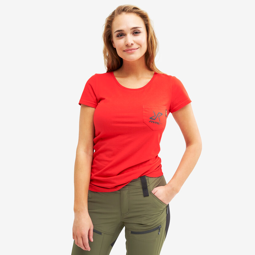 Fat Logo Tee Red Women