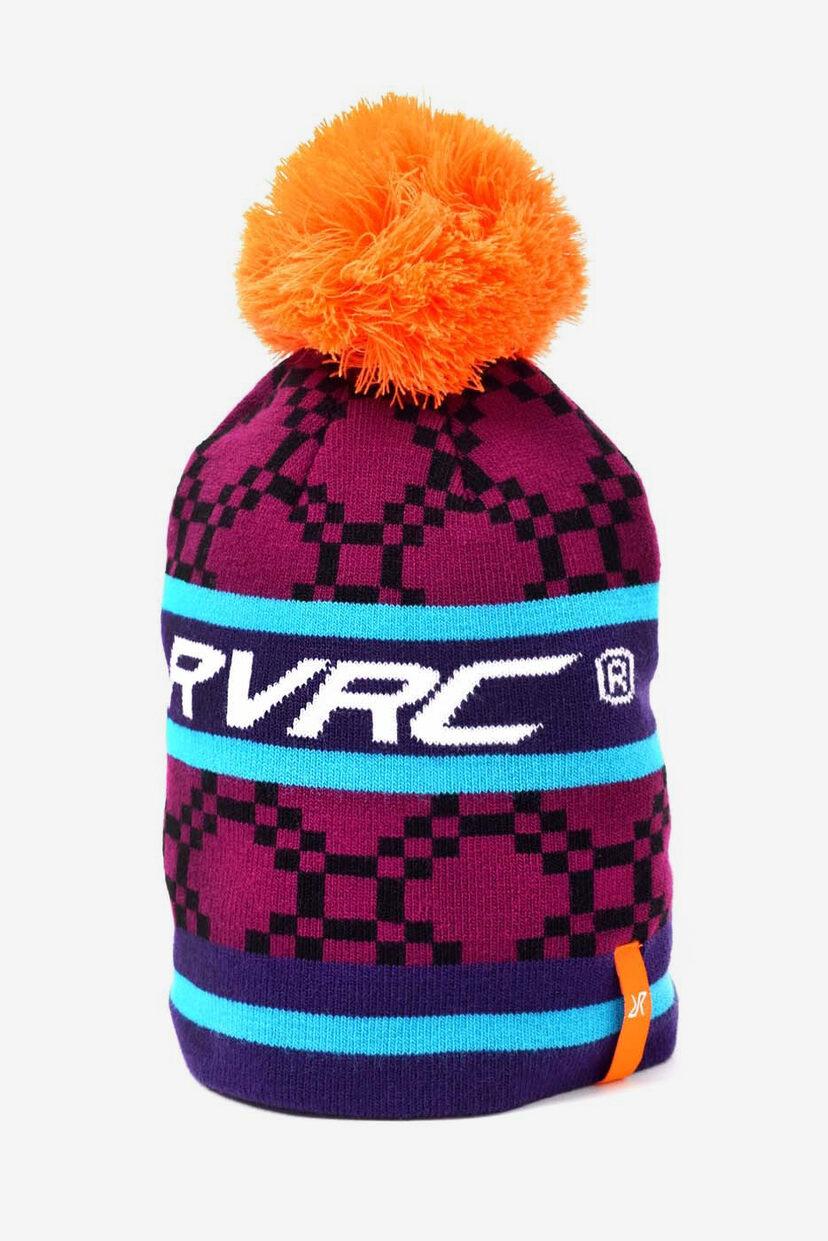 Retro Cap With Pom Pom Retro Purple