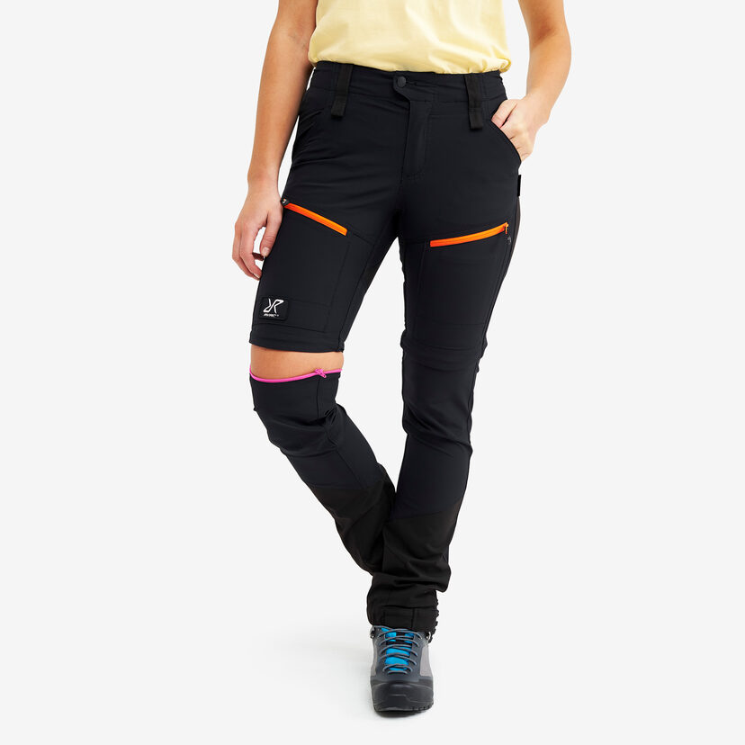 Silence Pro Zip-off Pants Jetblack Women