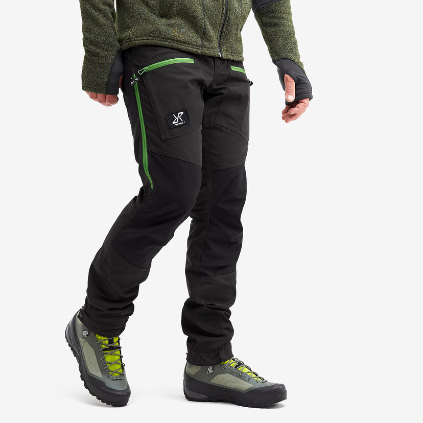 Nordwand Pro Trousers Anthracite/Online Lime Men
