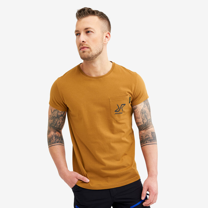 Fat Logo Tee Mustard Men