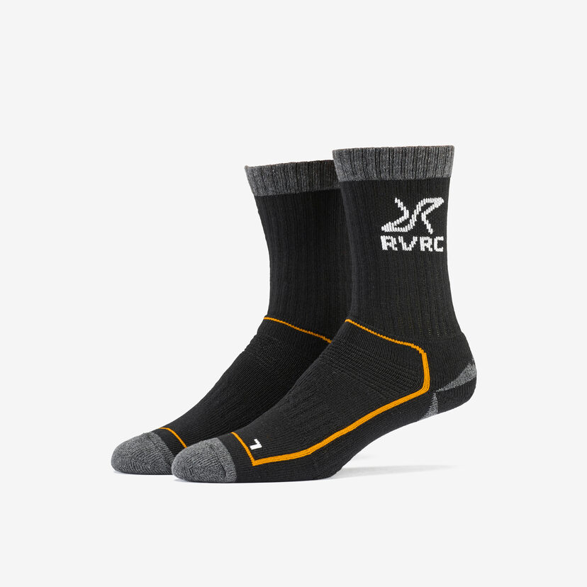 Wander Sock Black/Orange Men