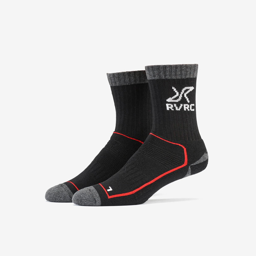 Wander Sock Black/Red Women